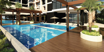 Galleria Residences Cebu Swimming Pool - Artist's Perspective