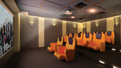 Galleria Residences Cebu Theater Room - Artist's Perspective