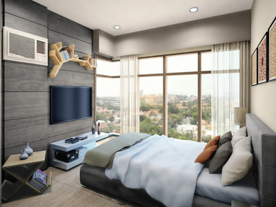 Galleria Residences Cebu 2 Bedroom - Artist's Perspective