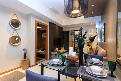 Galleria Residences Cebu 1 Bedroom - Dining Actual Showroom