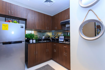 Galleria Residences Cebu 1 Bedroom - Kitchen Actual Showroom