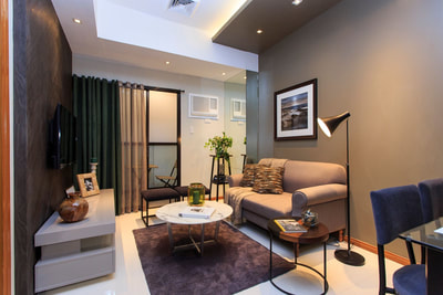 Galleria Residences Cebu 1 Bedroom - Living Area Actual Showroom