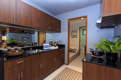 Galleria Residences Cebu 2 Bedroom - Kitchen Area Actual Showroom