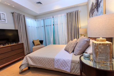 Galleria Residences Cebu 2 Bedroom - Master's Bedroom Actual Showroom