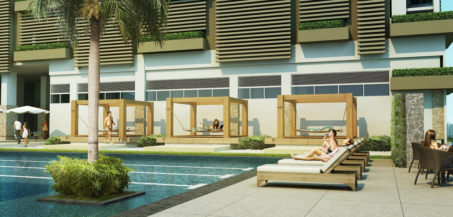Solinea City Resort Cebu Cabanas Pool Perspective