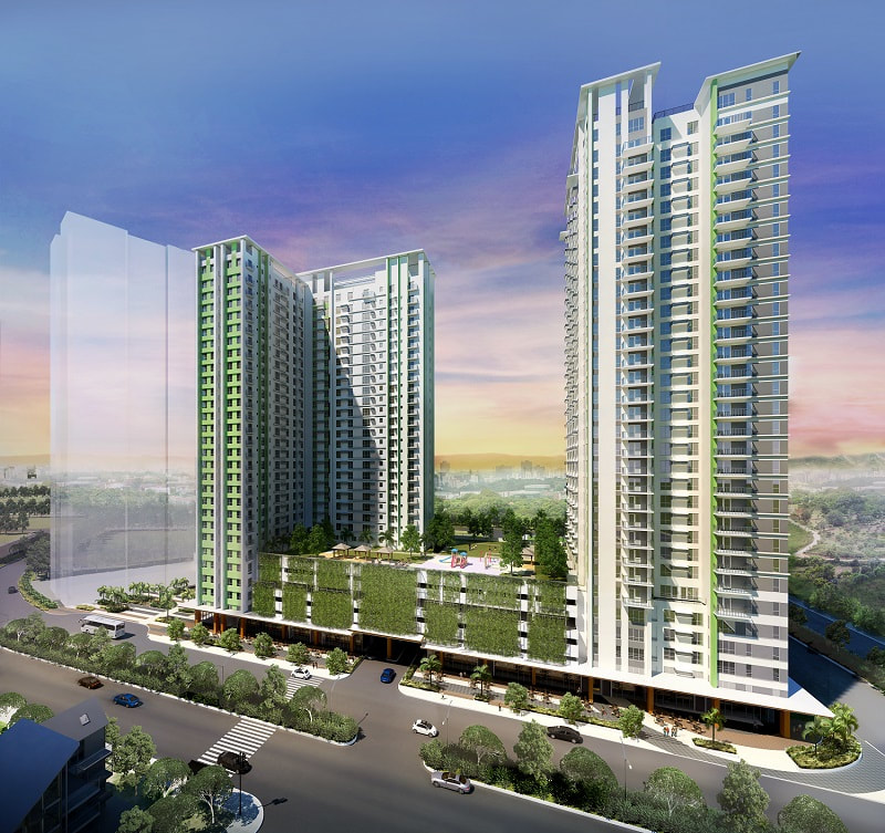 Solinea City Resort Cebu Tower Cyan and Tower Turquoise Perspective
